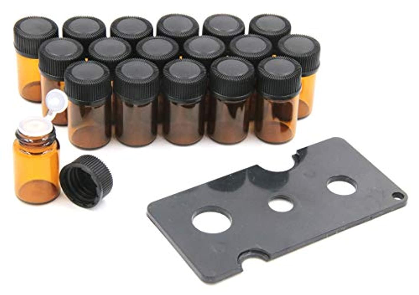 パフ獣耕すXPdesign アロマ 小分け遮光瓶 アロマオイル 遮光瓶 保存 容器 詰め替え 香水 ボトル 耐熱ガラス (2ml18本セット)