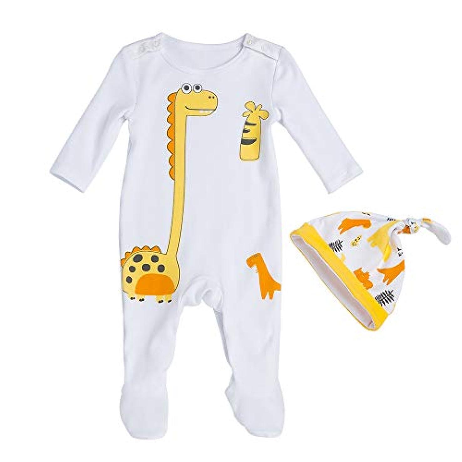 彼女は最初は観察するLiyukee - 赤ちゃん暖かいロンパー、帽子、ジャンプスーツの服下着セット秋の服ホームコスチューム0-24ヶ月に適して新生児の幼児少女 (3-6M)