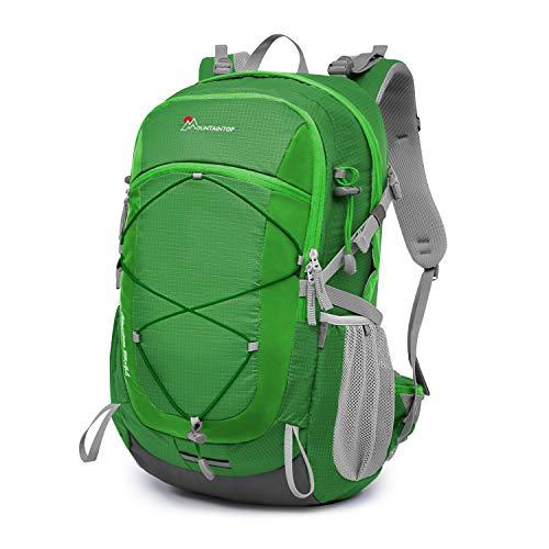 d4219c802601 マウンテントップ(Mountaintop) バックパック 40L リュック 登山 ザック アウトドア 旅行用 バッグ リュックサック 防水 軽量  レインカバー付き (グリーン583.