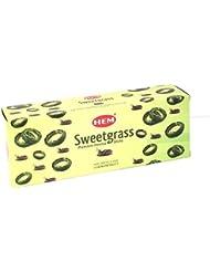 裾Sweetgrass Best Seller Incense Bulk 6 x 20スティック( 120 Sticks ) by 4quarters & More