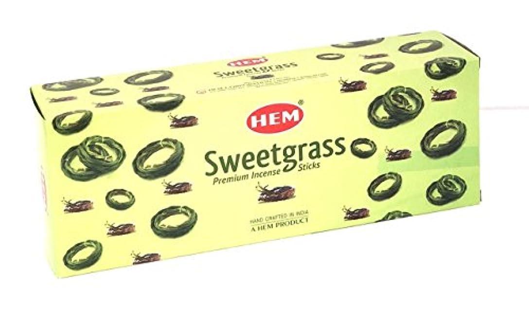 残りラップなしで裾Sweetgrass Best Seller Incense Bulk 6 x 20スティック( 120 Sticks ) by 4quarters & More