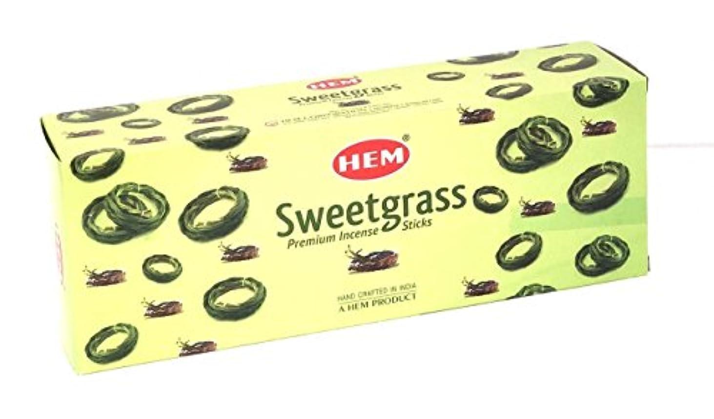 エクステント熱意十代の若者たち裾Sweetgrass Best Seller Incense Bulk 6 x 20スティック( 120 Sticks ) by 4quarters & More