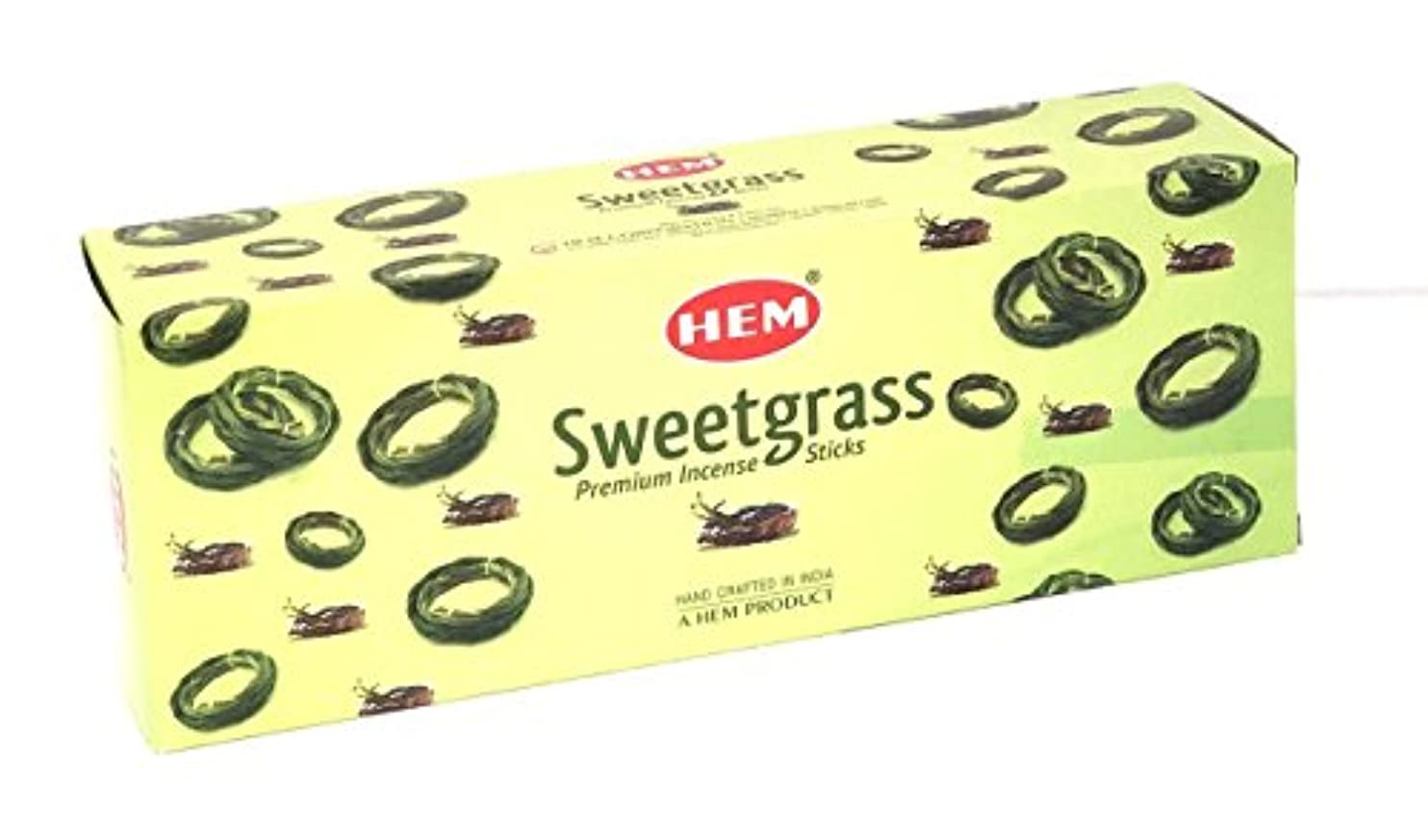 精査実質的に終了しました裾Sweetgrass Best Seller Incense Bulk 6 x 20スティック( 120 Sticks ) by 4quarters & More