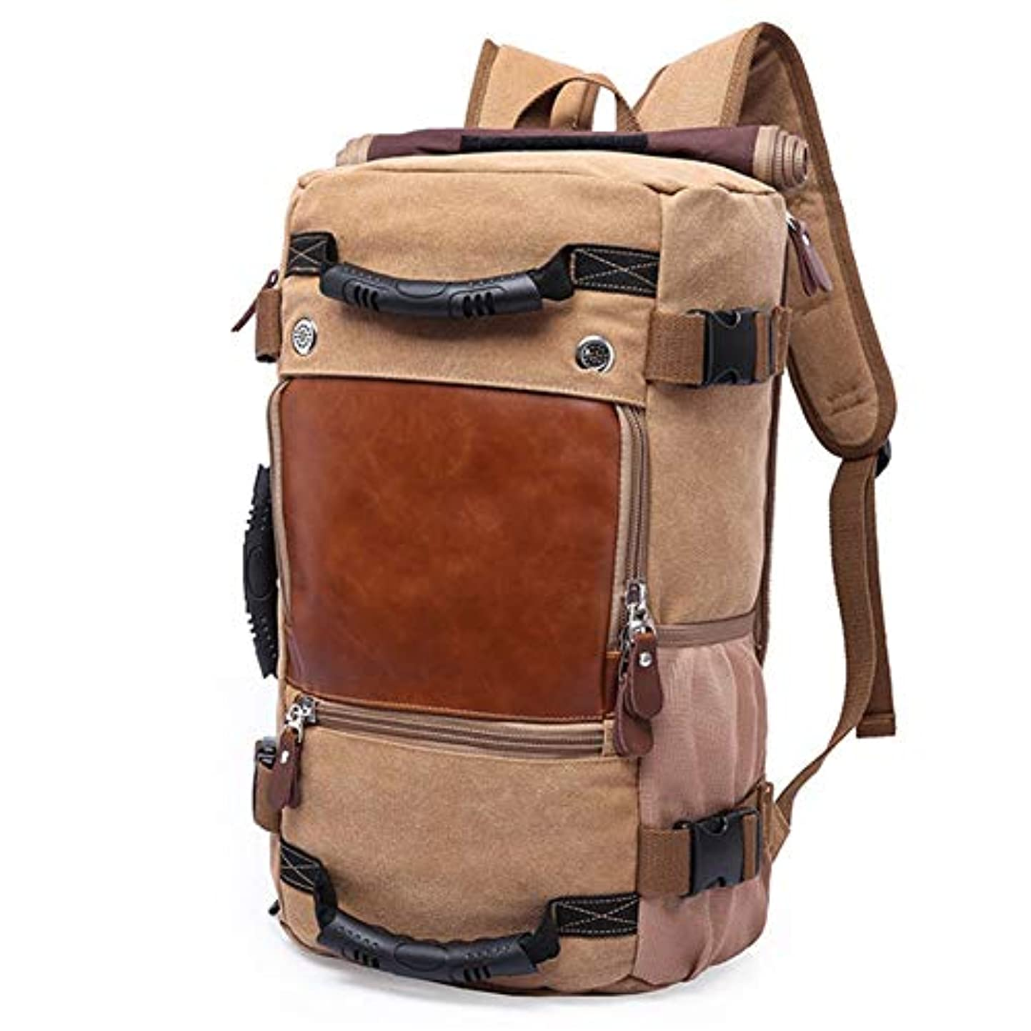 破産項目マダムDishyKooker パック スポーツリュック トラベル メンズビンテージキャンバスバック サックサッチェルスクールハイキングバッグ