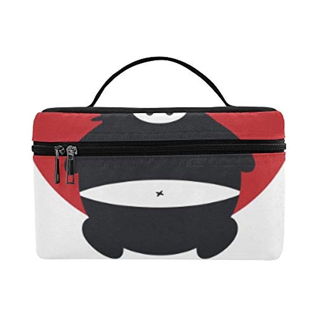 放置数字偏心GGSXD メイクボックス 忍者 コスメ収納 化粧品収納ケース 大容量 収納ボックス 化粧品入れ 化粧バッグ 旅行用 メイクブラシバッグ 化粧箱 持ち運び便利 プロ用