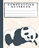 COMPOSITION NOTEBOOK: Beautiful and Cute Sleeping Panda Bear Pink Notebook and Journal with Wide Lined Ruled Paper Pages for Girls and Boys, Perfect Workbook for Writing Notes and Exercise