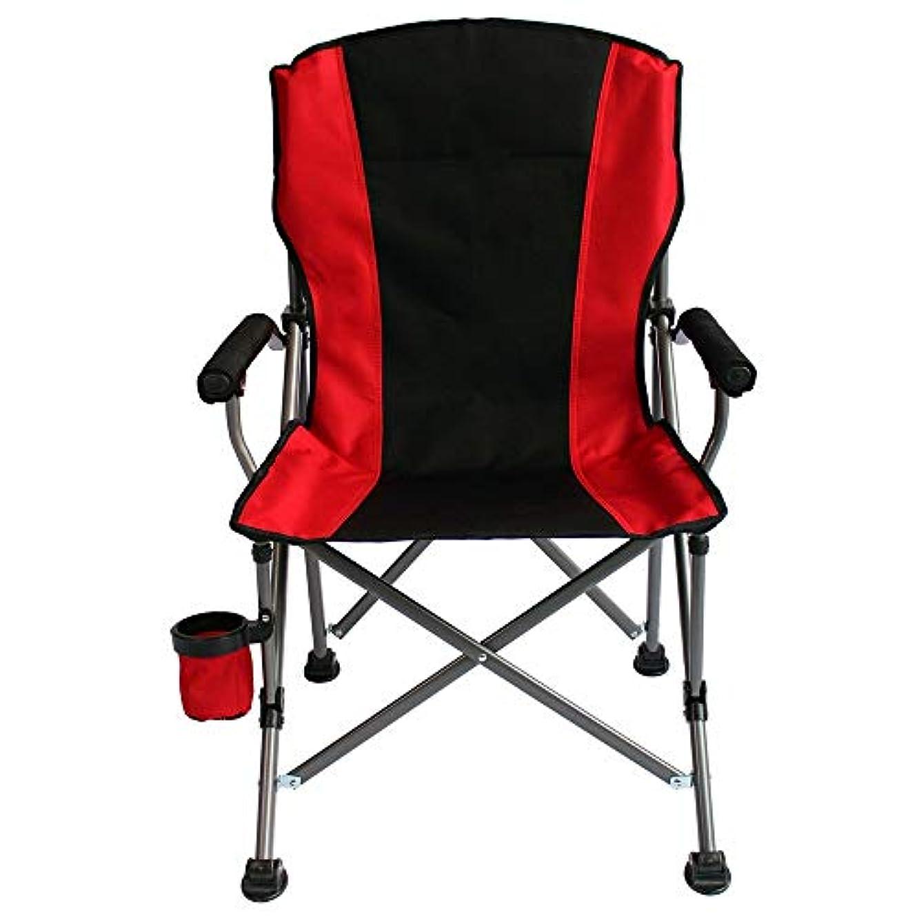 虫に対して絶対にキャンプチェア ピクニックハイキング釣りや野外活動のためのオックスフォード布キャンプ用椅子折りたたみ椅子 ビーチトラベルピクニックフェスティバル (色 : Red, Size : 60x60x96cm)