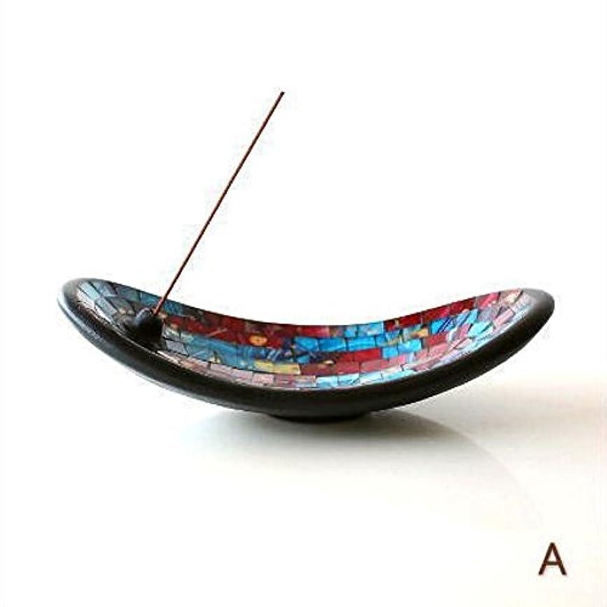 ドナーリビングルーム植物学者お香立て スティック おしゃれ かわいい モザイクガラスのインセンスホルダー [tom4305] (A)