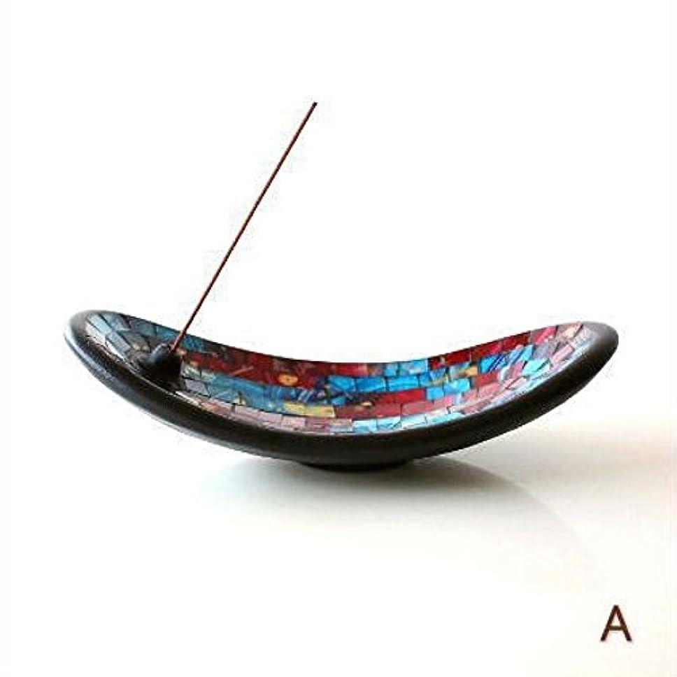 タウポ湖私たちのスプーンお香立て スティック おしゃれ かわいい モザイクガラスのインセンスホルダー [tom4305] (A)