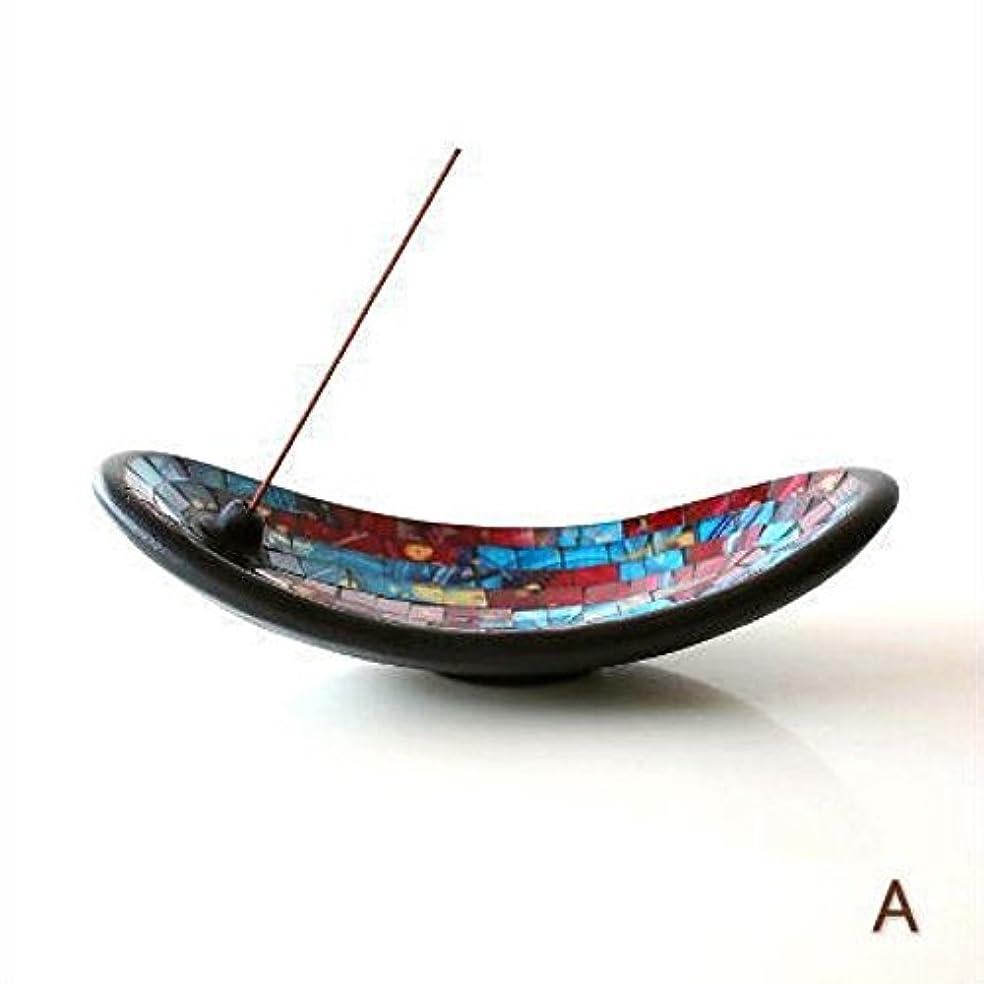 シソーラス排出敗北お香立て スティック おしゃれ かわいい モザイクガラスのインセンスホルダー [tom4305] (A)