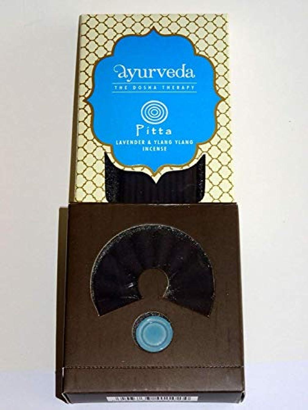 追加する結晶カビSong of India Lavender & Ylang Ylang Ayurveda: Dosha Theraphy - Incense Sticks, Cones & Holder Gift