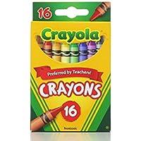 [クレヨラ]Crayola Classic Color Pack Crayons, 16 Colors Per Box Pack of 6 1590 [並行輸入品]