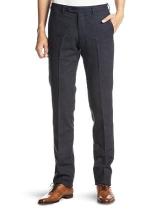 Homespun Slim Plain Front Pant 3114-186-0279: Navy