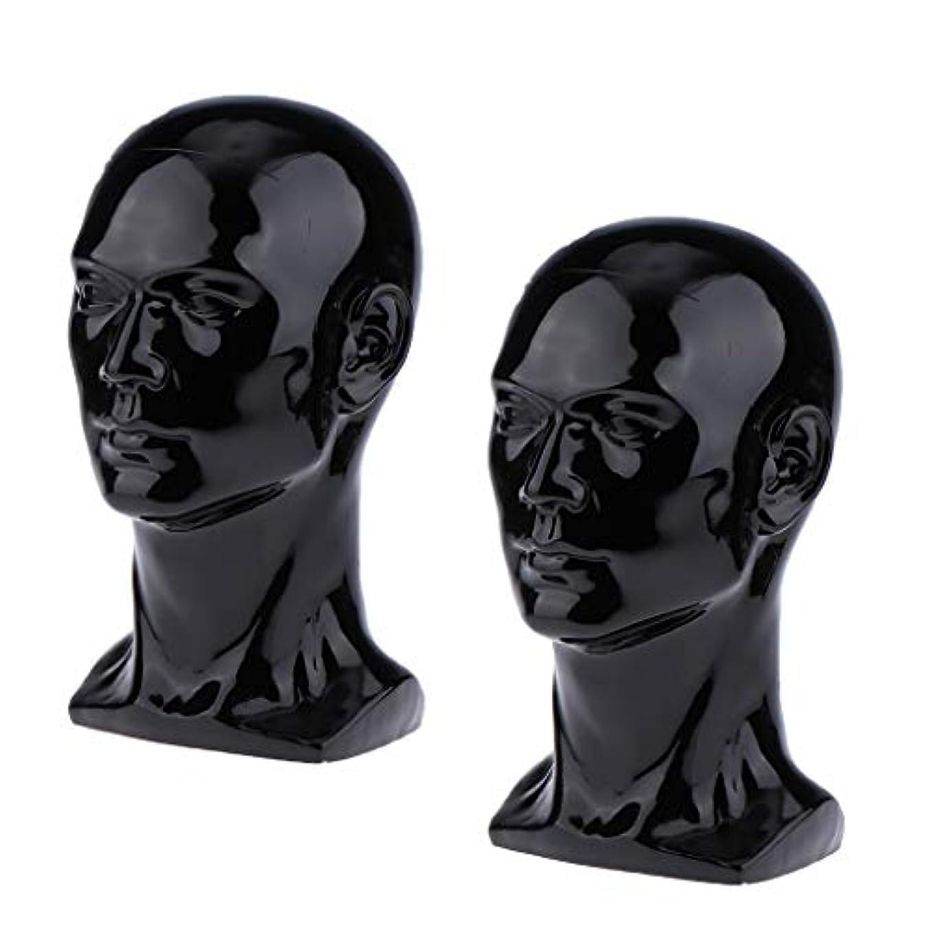 スカーフクリケットとげのあるToygogo 2×男性マネキンマネキンヘッドメガネキャップかつらジュエリーディスモデル
