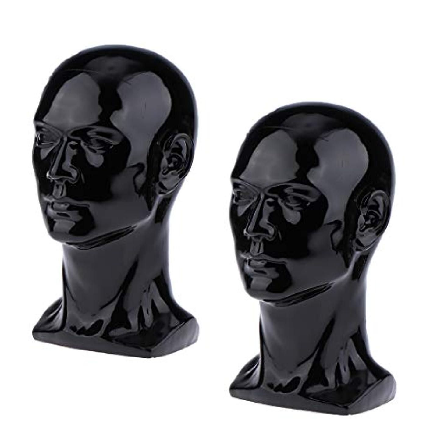 ホバー毎月並外れてToygogo 2×男性マネキンマネキンヘッドメガネキャップかつらジュエリーディスモデル