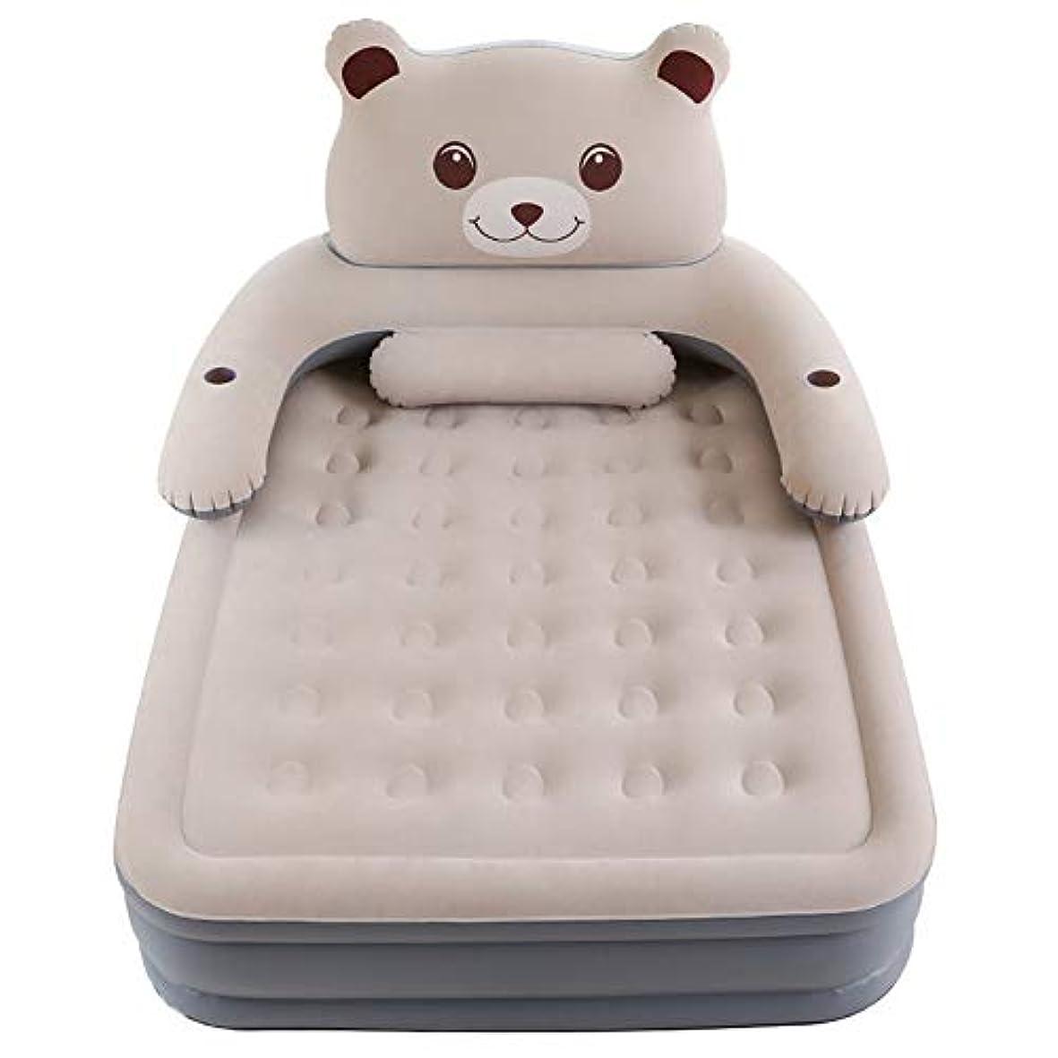 塩辛い拮抗する温度計ツインサイズのエアマットレスは、電気ポンプカップホルダー内蔵のベッドのインフレータブルマットレスを吹くゲスト、キャンプのための取り外し可能な背もたれ
