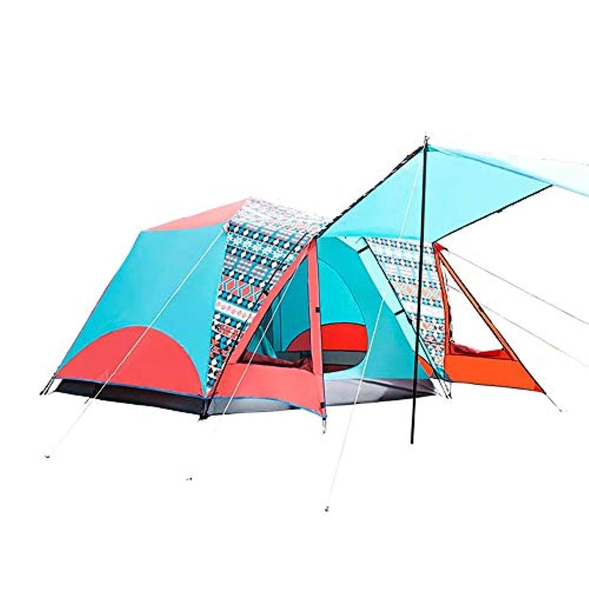 あまりにも反響する突然屋外のテント、4人の通気性の速度の肥厚のキャンプの野生の屋外の防雨性の通気性の自動テント