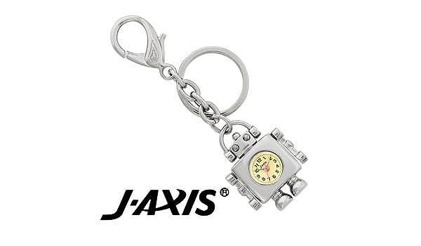 ed748326289a Amazon | J-AXIS ロボット キーチェーン ウォッチ 【キーホルダー チャーム 時計】 シルバー AP1333-S | 国内メーカー |  腕時計 通販