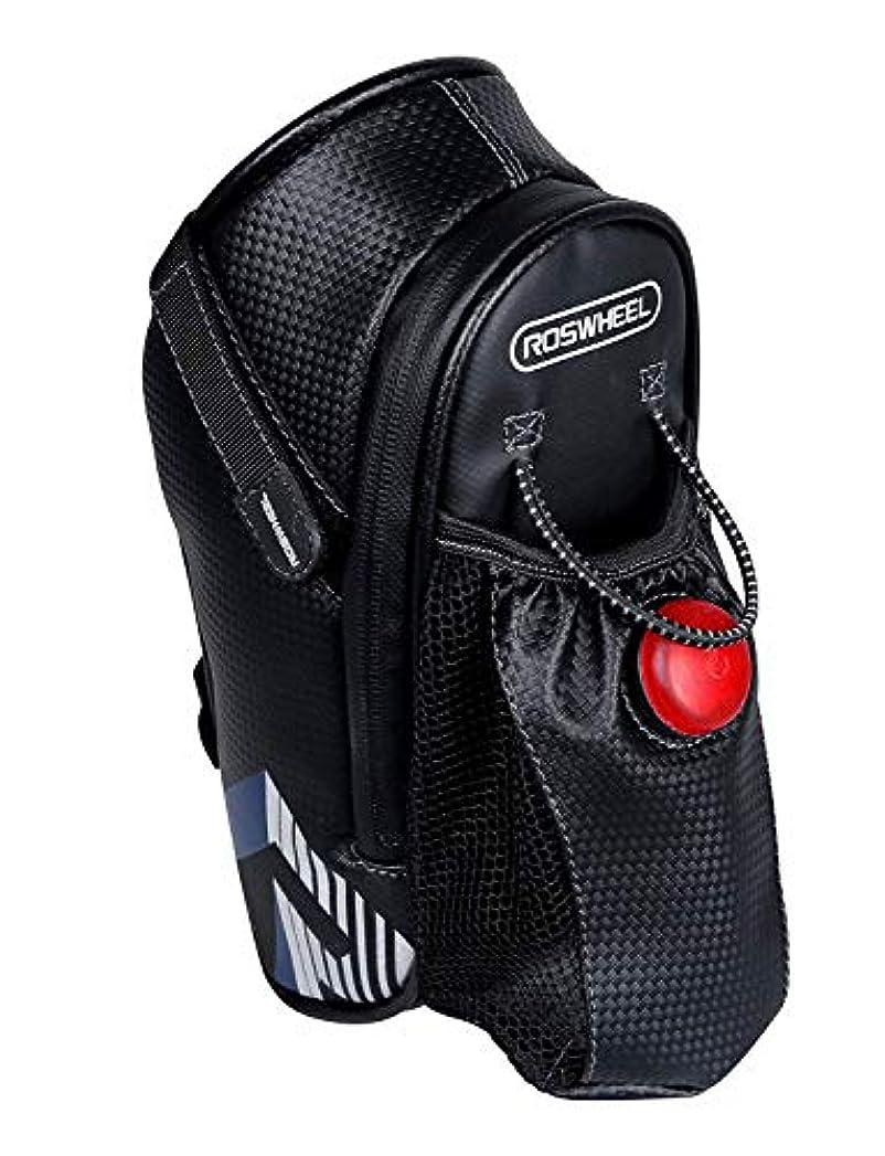 建物局かび臭いROSWHEEL 多機能 バイク サドル リア バッグ ボトル ホルダー LED 安全 ライト付き