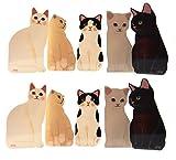BASE GEAR(ベースギア) グリーティングカード ネコ 好きが喜ぶ かわいい 猫 レターセット 封筒付き セット 5種10枚セット