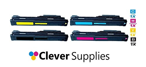 Clever装置©新しい交換互換トナーカートリッジ4色セットHP 822A、HP Color LaserJet 9500GP、9500hdn、9500MFP、9500N、9500( cb550a、cb551a、cb552a、cb553a )