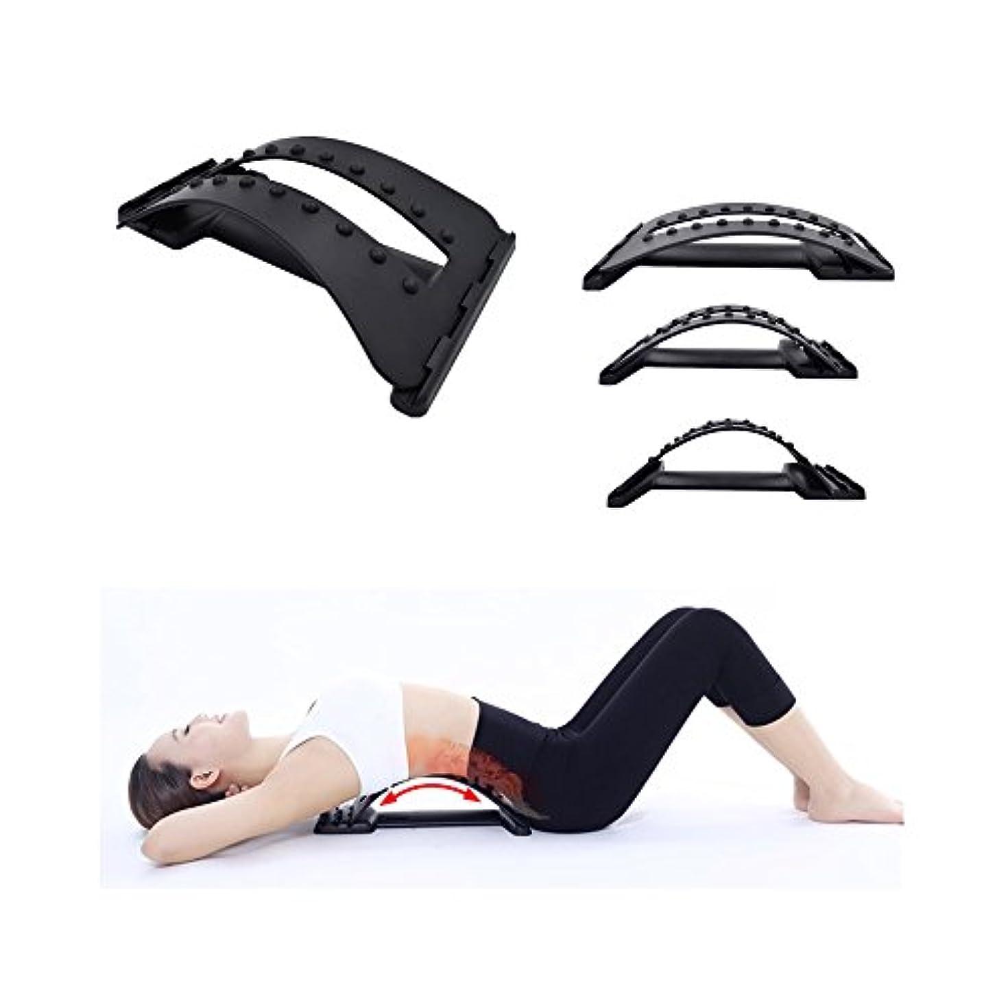 スケート不潔職業Decdeal フィットネスストレッチ装置 背中マッサージ器 マジック伸縮器 腰椎サポート リラクゼーションメイト カイロプラクター
