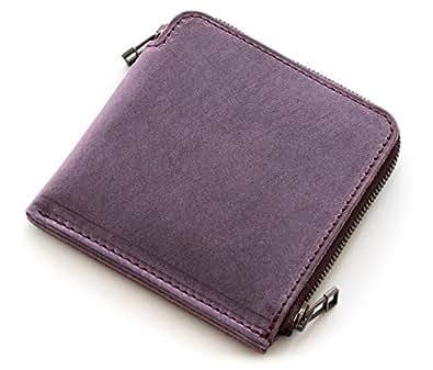 SYRINX 【厚い革の薄い財布】 本革 短財布 《単》 (短財布, Texas Viola 「テキサス・スミレ」)