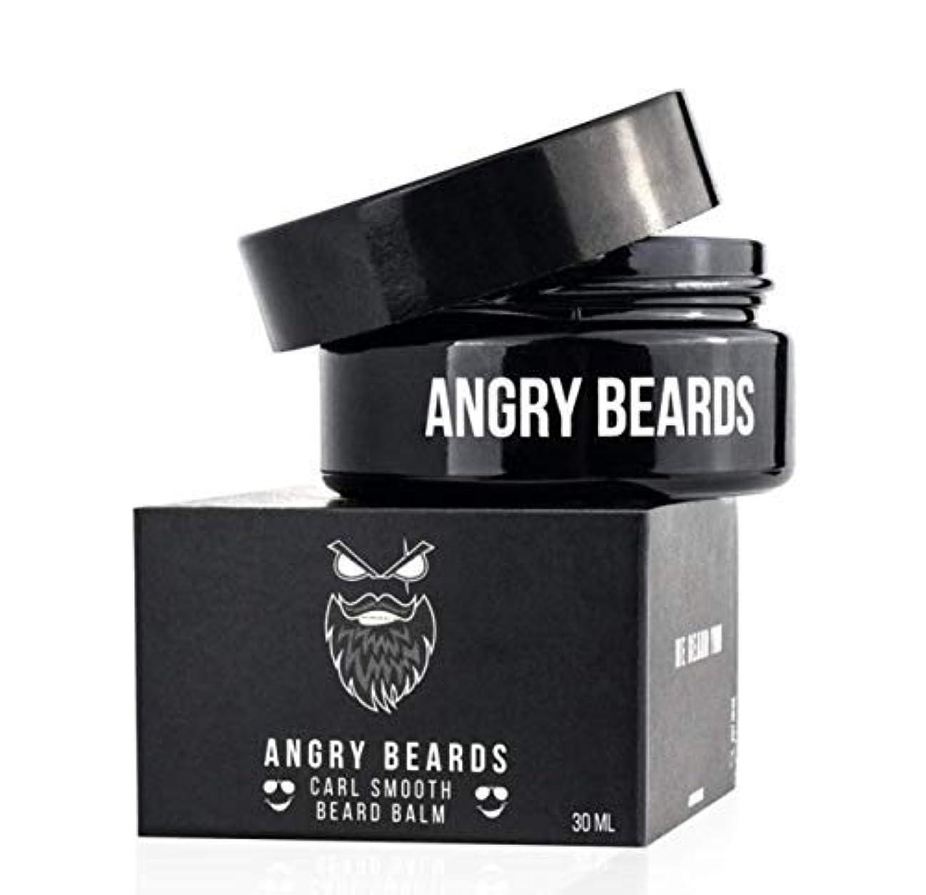 幻想汚染遠いCarl Smooth Beard Balm by Angry Beards 30ml / カールスムースビアードバームバイアングリービアード30ml Made in Czech Republic