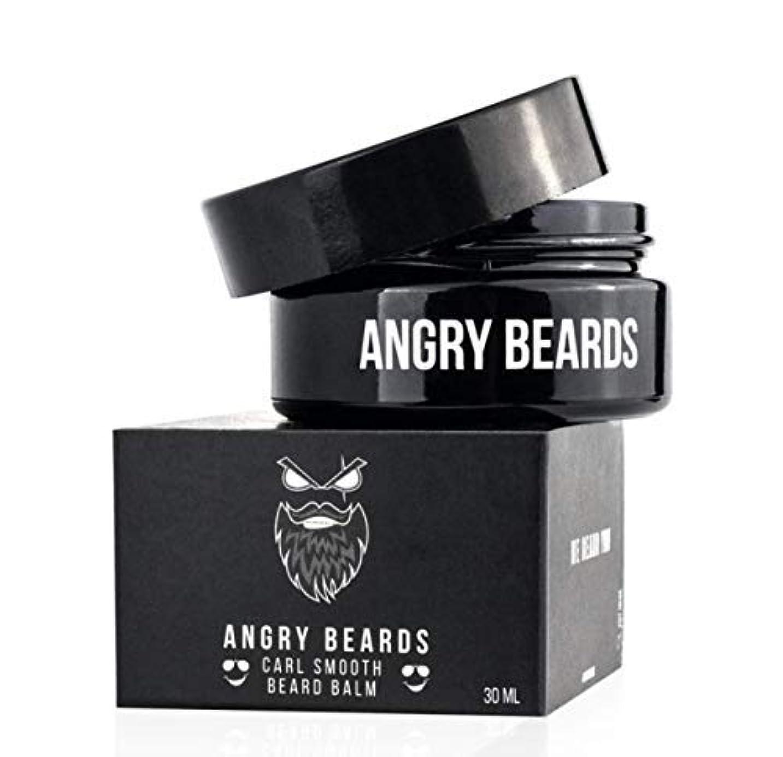 哺乳類空気クモCarl Smooth Beard Balm by Angry Beards 30ml / カールスムースビアードバームバイアングリービアード30ml Made in Czech Republic