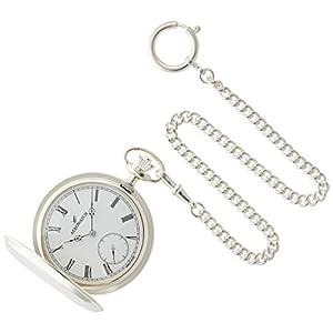 [アエロウォッチ]AEROWATCH 懐中時計 ハンターケース(925純銀) スモールセコンド 手巻き式 ホワイト SWISS MADE 55650 A901 【正規輸入品】