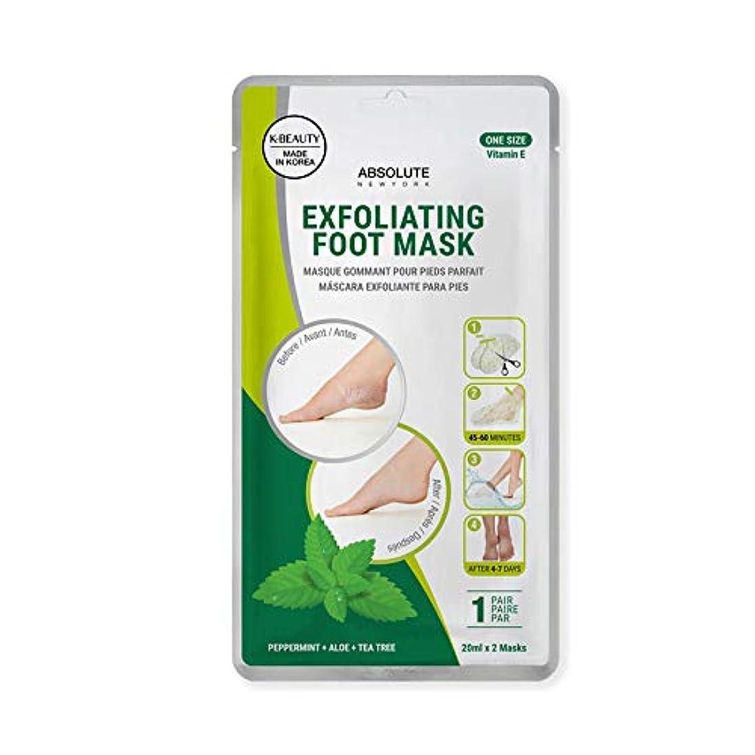 原油煙突花婿(3 Pack) ABSOLUTE Exfoliating Foot Mask - Peppermint + Aloe + Tea Tree (並行輸入品)