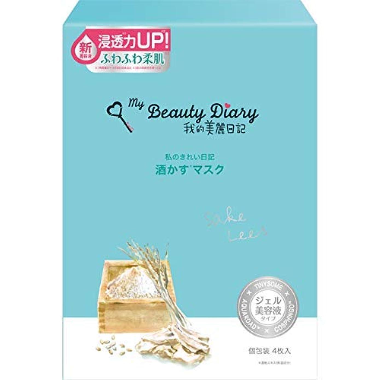 講堂中性アグネスグレイ我的美麗日記 酒かすマスク(4枚)