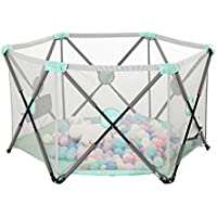 ゲームフェンス子供の折り畳みフェンス 屋内ゲームフェンスフェンス 自宅の赤ちゃんの安全フェンスの幼児 (Color : Green, Size : 75 * 150cm)