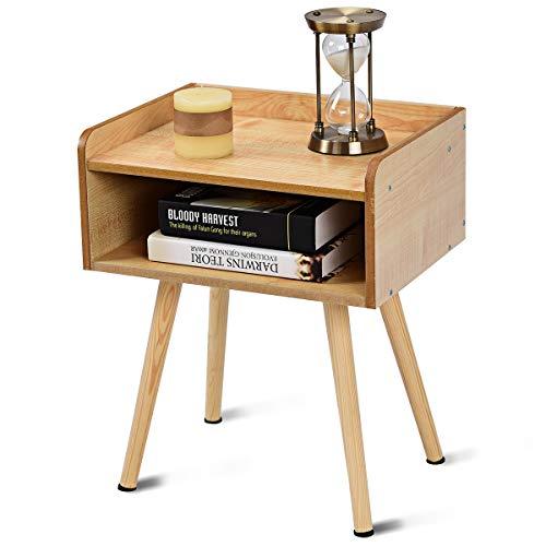 BestBuy サイドテーブル サイドチェスト ナイトテーブル ベッドサイドテーブル ソファサイドテーブル 収納スペース(四角/引出し279)