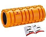 DB Praise フォームローラー Foam Roller 9色 スポーツ トレーニング ストレッチ 器具 解説書付き (G Orange)