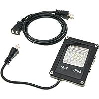 防雨形LED投光器 10W 小型タイプ 800ルーメン 昼光色 IP65 ボディーカラー:ブラック