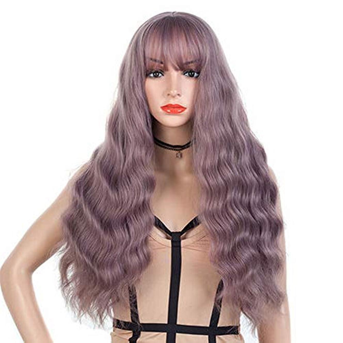 女性のための色のかつら長いウェーブのかかった髪、高密度温度合成かつら