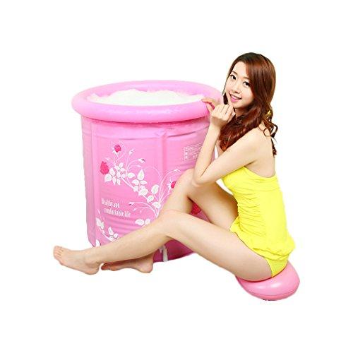 ZWL ピンク印刷インフレータブルバスタブ厚い断熱材プラスチ...