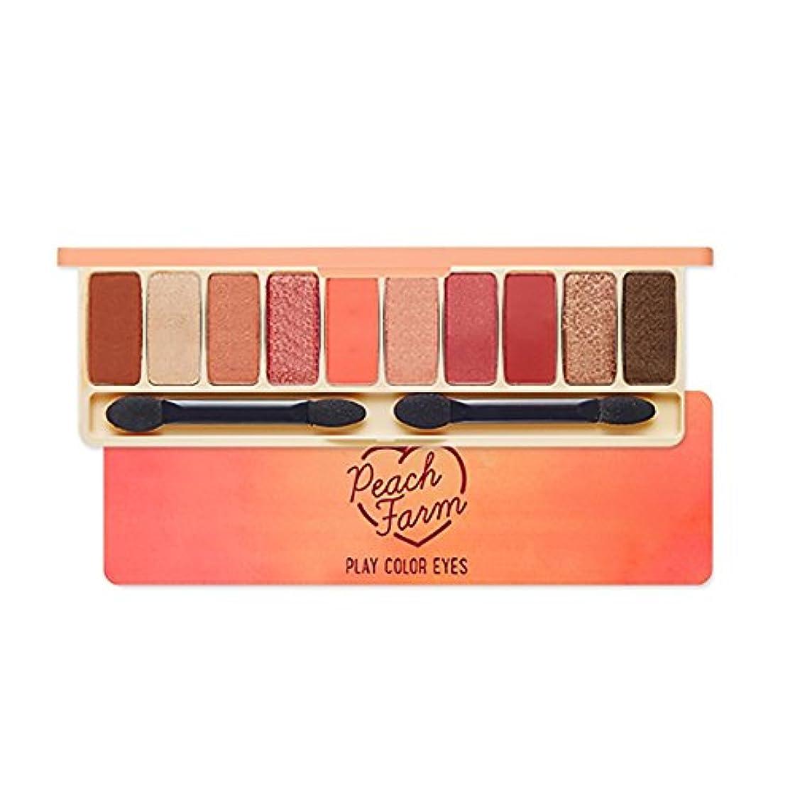 出血蒸気続けるEtude House エチュードハウス New Play Color Eyes Peach Farm Eyeshadow palette アイシャドーパレット 1g*10