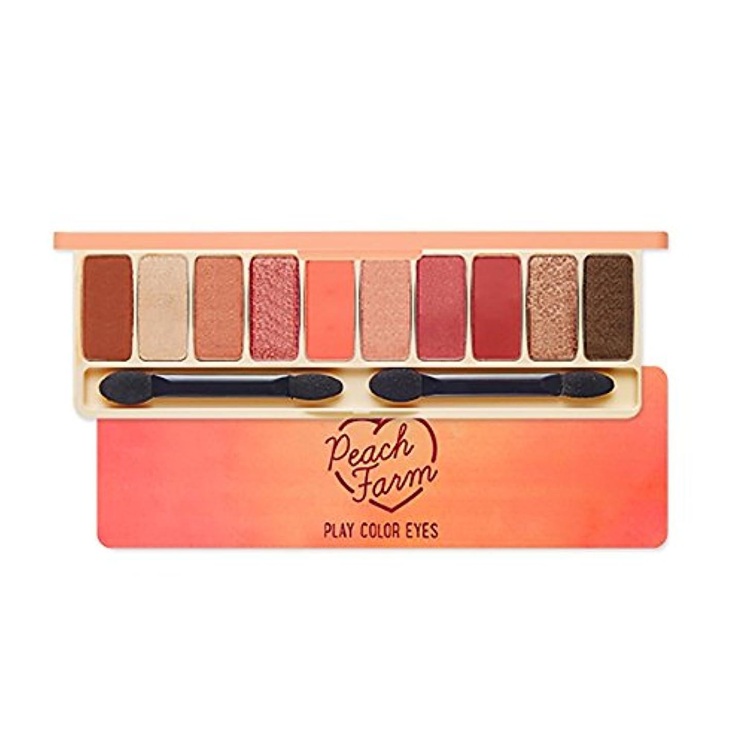 激怒カナダ研磨剤Etude House エチュードハウス New Play Color Eyes Peach Farm Eyeshadow palette アイシャドーパレット 1g*10