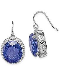 925 Sterling Silver Cubic Zirconia Cz Blue Stone Drop Dangle Chandelier Earrings Fine Jewelry Gifts For Women For Her