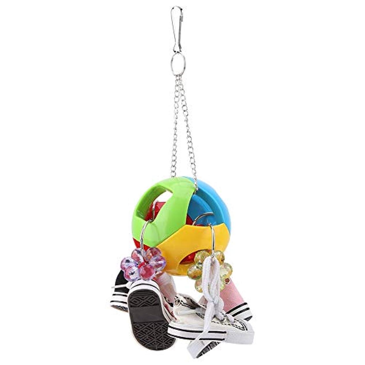 本当のことを言うとぬるい画家ochun鳥おもちゃ 鳥噛む玩具 カラフル ボール 靴 プラスチック製 止まり木 ストレス解消 ゲージアクセサリー くちばしのトレーニング 咀嚼本能 吊り下げ インコ オウム用 鳥用品 知育玩具