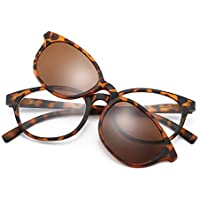 Qi Song 2in1 Polarized Magnetic Clip On Shade Sunglasses Reading Glasses +1.0+1.5+2.0+2.5+3.0+3.5