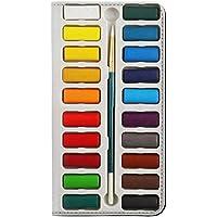 JPW3243IXS 水彩絵の具セット Watercolor Paint Set iPhone XS フリップケース