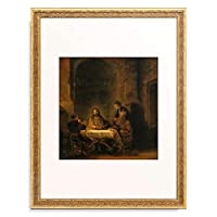 レンブラント・ファン・レイン Rembrandt Harmenszoon van Rijn 「エマオの晩餐」 額装アート作品