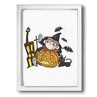 ZGG 絵 ポスター ハロウィン 万聖節 Halloween アートパネル アートフレーム 壁アート 壁飾り シンプル モダン 取り付けやすい 額なし 釘付き 絵 アートパネル 30*40cm