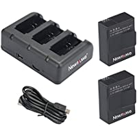 GoPro HERO3 バッテリー2個+USBバッテリーチャージャー スリムデュアル充電器 バッテリー2個同時急速充電が可能