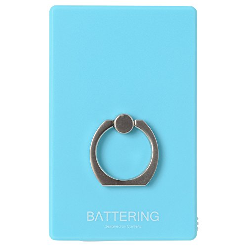 CANTERA CK002 BATTERING バッテリング モバイルバッテリー 充電器 CK002 青 エメラルド (コネクタを反転させるだけで iPhone も android も両方充電できる奇跡のモバイルバッテリー) Lightning microUSB