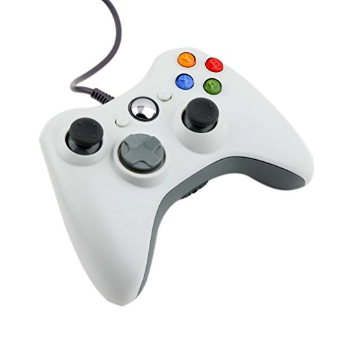 ICOCO USB ゲームコントローラー 有線 Xbox/Windows対応  Xbox360 Controller for Windows (ホワイト)