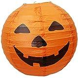 LED Paper Pumpkin Hanging Lantern, Light Lamp for Home Horror Lantern Supplies
